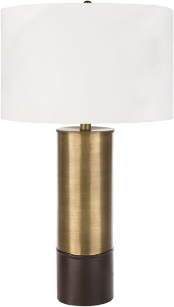 Surya Nelson White Leather Table Lamp - 16x27 NSN-001