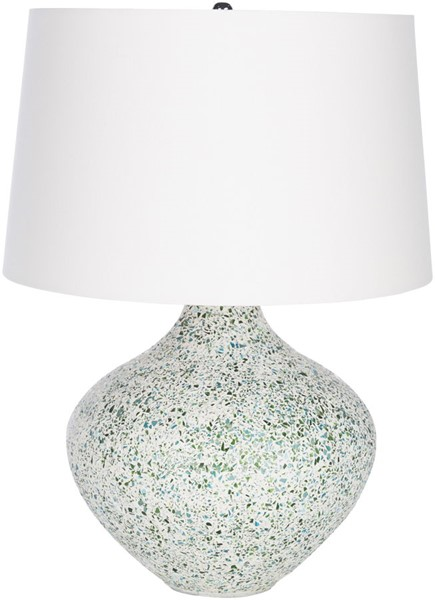 Surya Natia Aqua Mosaic Glass Table Lamp - 18x25 NTI-001