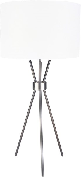 Surya Nathan White Black Metal Table Lamp - 17x17 NTN-003