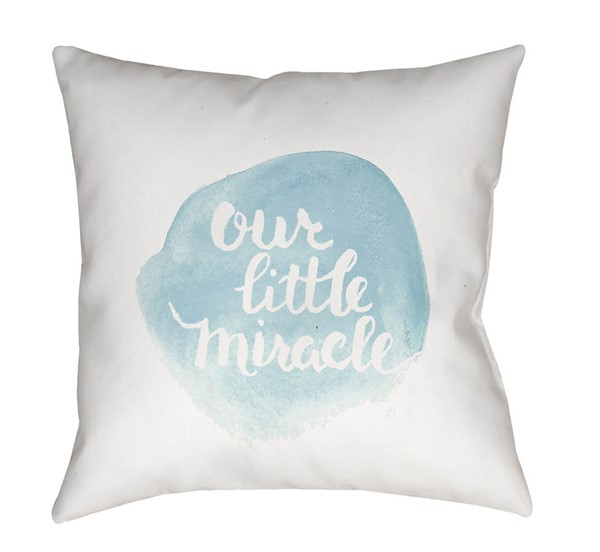 Surya Miracle Sky Blue Fabric Pillow Cover - 20x20 NUR006-2020