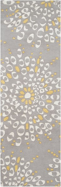 Naya Contemporary Gray Beige Gold Wool Rugs 961-VAR1