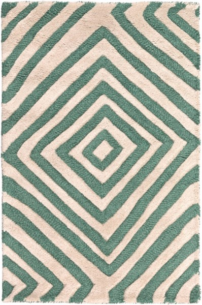 Naya Contemporary Green Ivory Wool Area Rug (L 36 X W 24) NY5234-23
