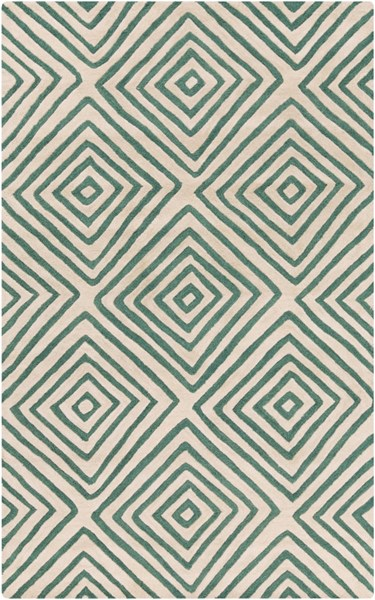 Naya Green Ivory New Zealand Wool Area Rug - 60 x 96 NY5234-58