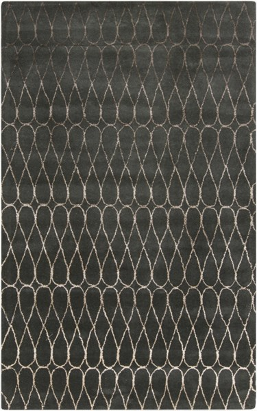 Naya Contemporary Charcoal Taupe Wool Area Rug (l 96 X W 60) NY5236-58