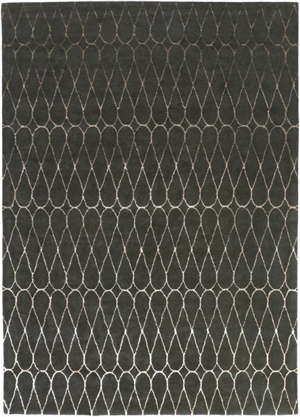 Naya Contemporary Charcoal Taupe Wool Area Rug (L 132 X W 96) NY5236-811