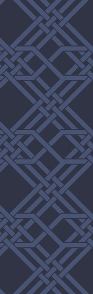 The Oakes Contemporary Navy Wool Geometric Runner OAK6005-268