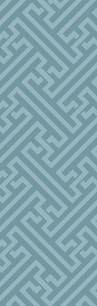 The Oakes Contemporary Teal Wool Runner 12880-VAR1