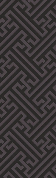 The Oakes Contemporary Black Fabric Runner 30 X 96 OAK6009-268