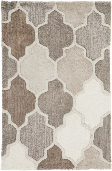 Oasis Contemporary Light Gray Taupe Cobalt Wool Rugs 1515-VAR1