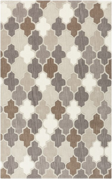 Oasis Light Gray Taupe Olive Wool Area Rug - 60 x 96 OAS1088-58