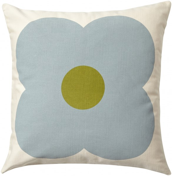Giant Abacus Moss Lime Down Cotton Linen Throw Pillow - 18x18x4 OKA003-1818D