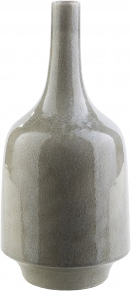 Olsen Modern Gray Ceramic Table Vase (L 7.09 X W 7.09 X H 15.16) OLS100-L