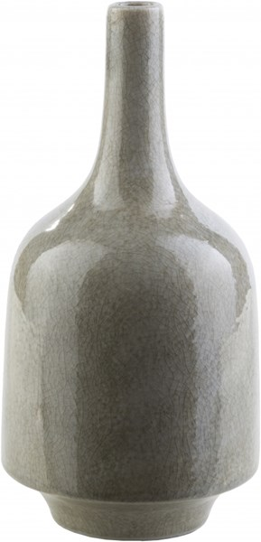 Olsen Modern Gray Ceramic Table Vase (L 5.91 X W 5.91 X H 12) OLS100-M