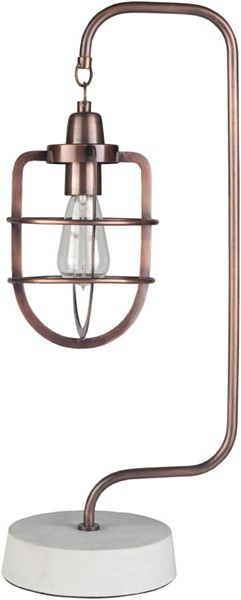 Surya Omar Copper Metal Table Lamp - 11.25x8 OMA-001