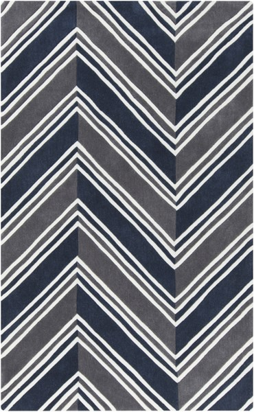 Opera Navy Charcoal Ivory Poly Acrylic Area Rug (L 90 X W 60) OPR6000-576
