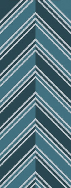 Opera Contemporary Teal Slate Poly Acrylic Runner (L 96 X W 30) OPR6005-268