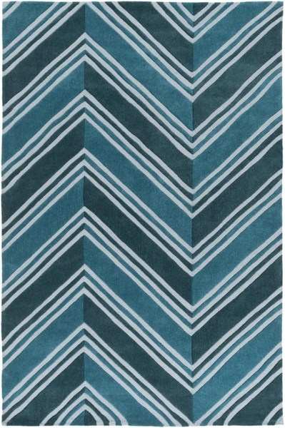 Opera Contemporary Teal Slate Poly Acrylic Area Rug (L 90 X W 60) OPR6005-576