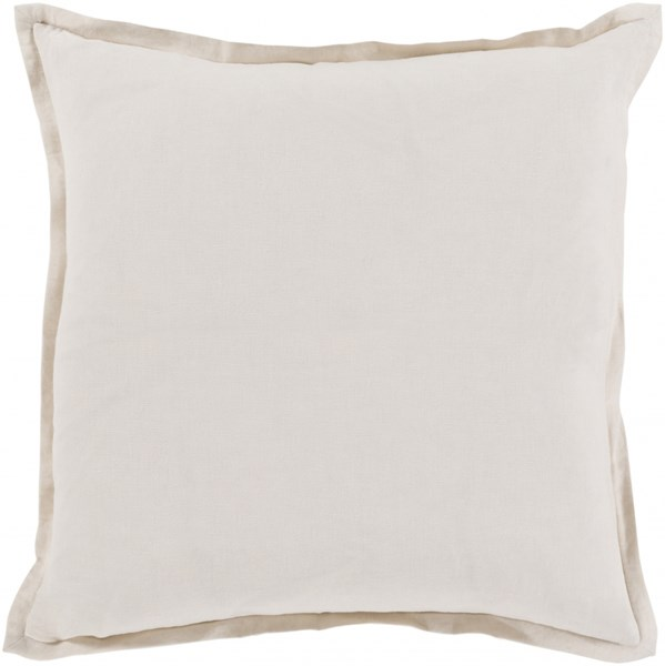 Orianna Pillow with Down Fill in Light Gray - 20 x 20 x 5 OR006-2020D
