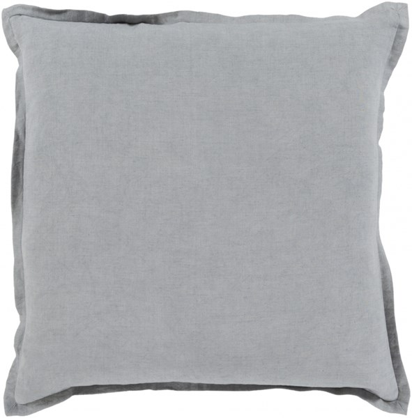 Orianna Pillow With Down Fill In Slate Gray - 20 x 20 x 5 OR009-2020D
