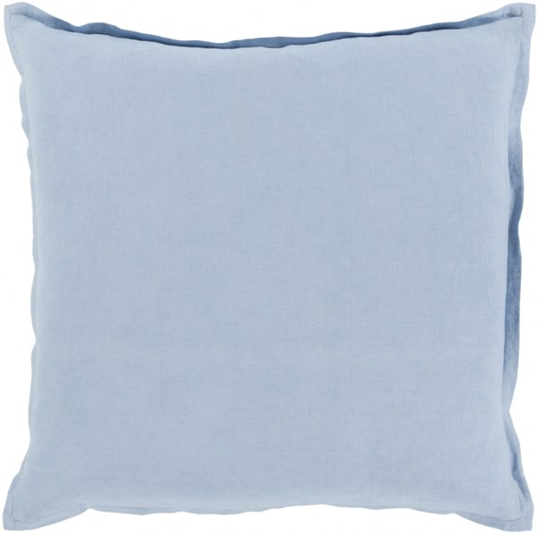 Orianna Pillow with Down Fill in Sky Blue - 22 x 22 x 5 OR012-2222D