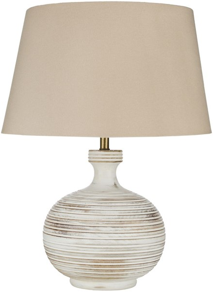Surya Cross Taupe Wood Table Lamp - 17x23.50 OSS-001