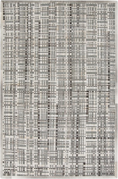Outback II Light Gray Taupe Black Hair On Hide Area Rug - 60 x 96 OUB1007-58