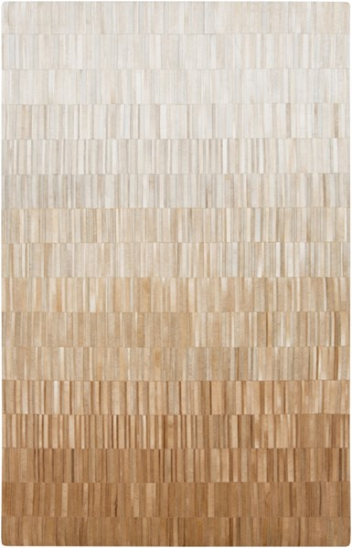 Outback Tan Light Gray Sea Foam Hair On Hide Area Rug (L 96 X W 60) OUT1009-58
