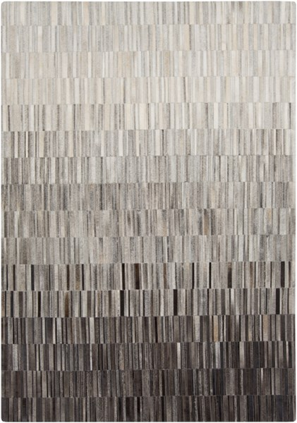 Outback Light Gray Taupe Black Hair On Hide Area Rug - 60 x 96 OUT1010-58