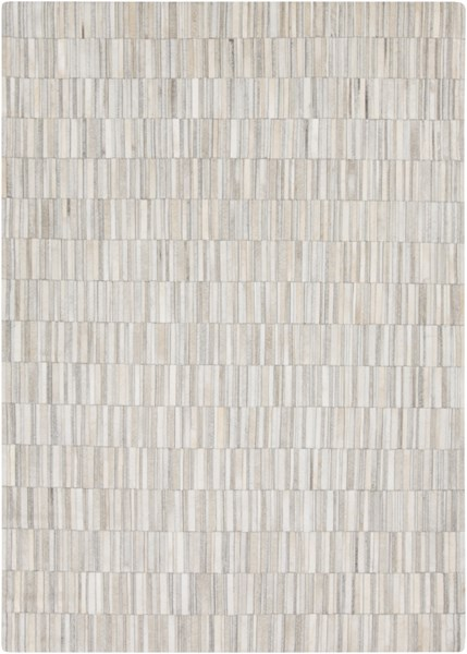 Outback Beige Ivory Light Gray Hair On Hide Area Rug (L 96 X W 60) OUT1013-58
