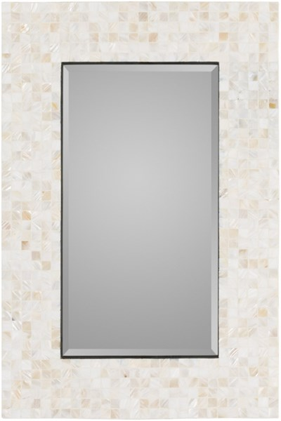 Overton Ivory MDF Wall Mirror - 23.6x35.4 OVE-3302
