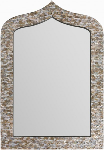 Overton Neutral MDF Wall Mirror - 29.5x43.3 OVE-3304