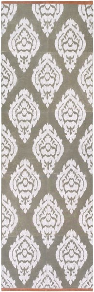 Owi Contemporary Moss Ivory Mocha Cotton Suede Runner (L 96 X W 30) OWI8000-268