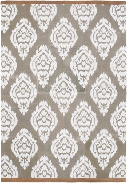 Owi Contemporary Moss Ivory Mocha Cotton Suede Area Rug (L 90 X W 60) OWI8000-576