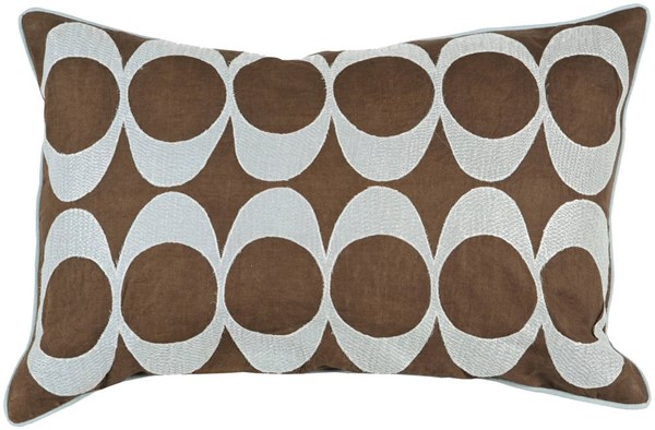 Dark Brown Fabric Poly Fill Square Pillow Kit (L 22 X W 22) P0180-2222P