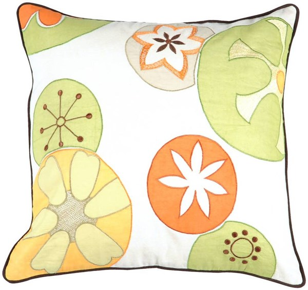 Surya Bright Yellow Lime Fabric Square Pillow Kits P0198-VAR