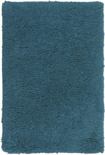 Pado Contemporary Teal Polyester Area Rug (L 36 X W 24) PAD1008-23