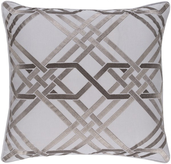 Pagoda Light Gray Poly Linen Cotton Throw Pillow - 20x20x5 PAG005-2020P