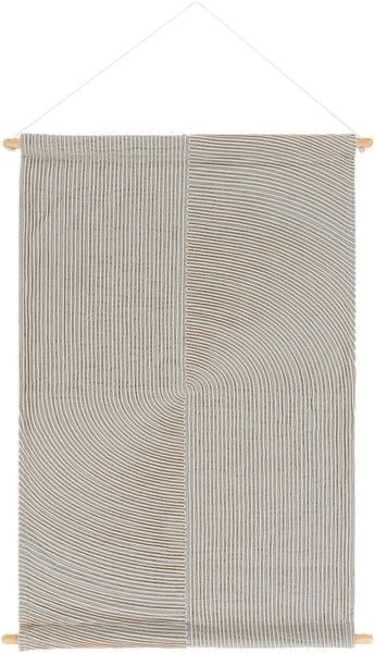 Surya Pax Light Gray Cream Wall Hangings - 24x36 PAX1001-2436