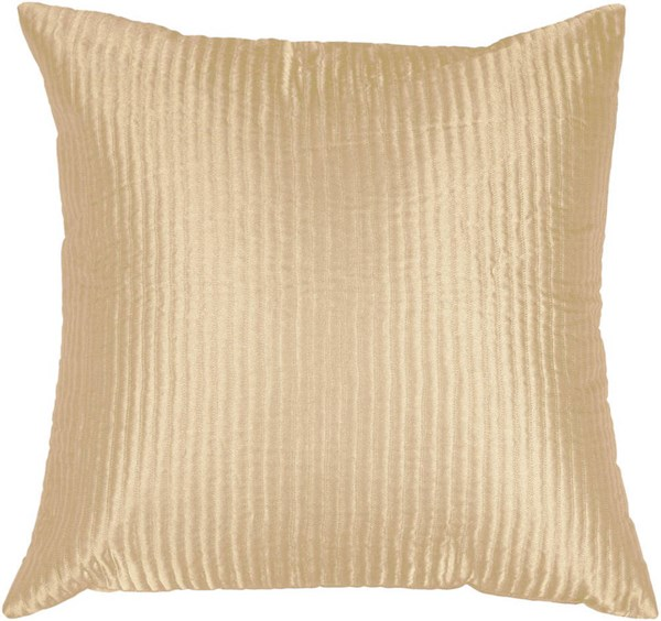 Surya Beige Fabric Square Down Fill Pillow Kits PC1005-VAR