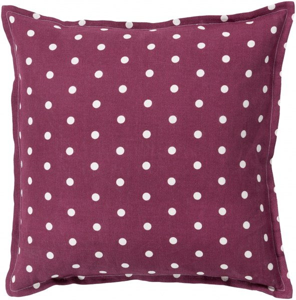 Polka Dot Rust Ivory Down Linen Throw Pillow - 20x20x5 PD003-2020D