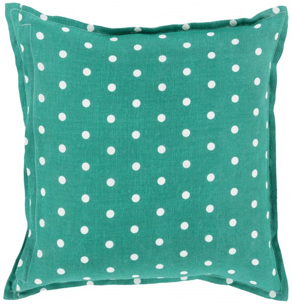 Polka Dot Emerald/Kelly Green Down Linen Throw Pillow - 22x22x5 PD006-2222D