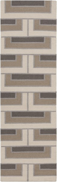 Paddington Light Gray Olive Wool Runner - 30 x 96 2076-VAR1