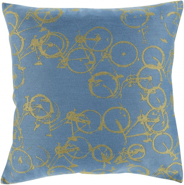 Pedal Power Slate Lime Down Polyester Throw Pillow - 18x18x4 PDP004-1818D