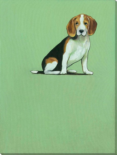 Surya Eternal Canvas Puppy Pageant I Wall Art - 14x18 PE100A001-1418