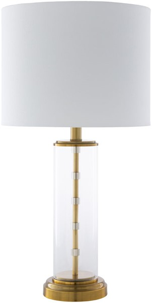 Surya Perdida White Gold Glass Table Lamp - 13x25.25 PED-002