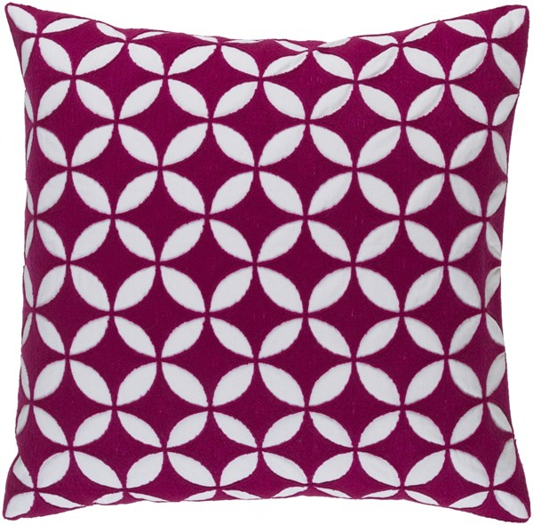 Perimeter Pink Ivory Down Cotton Throw Pillow - 22x22x5 PER002-2222D