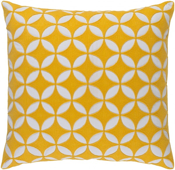 Perimeter Sunflower Ivory Down Cotton Throw Pillow - 22x22x5 PER003-2222D