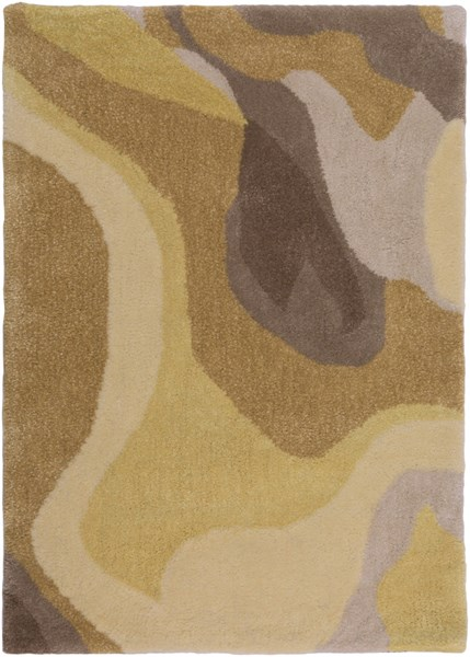 Pigments Gray Chocolate Gold Butter Polyester Viscose Area Rug - 24x36 PGM3001-23