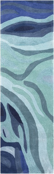 Surya Pigments Teal Dark Blue Gray Polyester Runner - 96x30 PGM3003-268