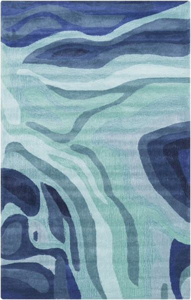 Surya Pigments Teal Dark Blue Gray Polyester Area Rug - 66x42 PGM3003-3656